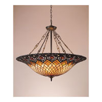 Quoizel TF1901VB Tiffany 6 Light 32 inch Vintage Bronze Pendant Ceiling Light, Naturals alternative photo thumbnail