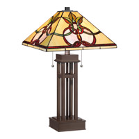 Quoizel Tiffany 2 Light Table Lamp in Russet TF1913TRS