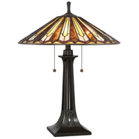 Tiffany 25 inch Vintage Bronze Table Lamp Portable Light