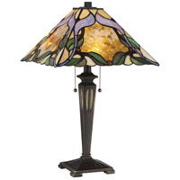 Tiffany 22 inch 60 watt Imperial Bronze Table Lamp Portable Light