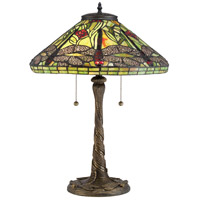 Quoizel TF2598T Tiffany 24 inch 75 watt Architectural Bronze Table Lamp Portable Light, Naturals