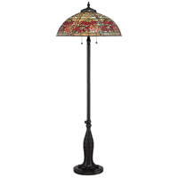 Tiffany 61 inch 100 watt Valiant Bronze Floor Lamp Portable Light