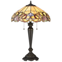 Blossom 27 inch 75 watt Imperial Bronze Table Lamp Portable Light
