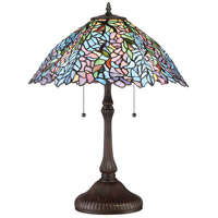 Blue Trellis 24 inch 75 watt Russet Table Lamp Portable Light