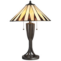 Quoizel TF2804TWT Tiffany 25 inch 75 watt Western Bronze Table Lamp Portable Light, Naturals