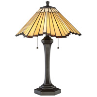 Quoizel TF2806TWT Tiffany 25 inch 75 watt Western Bronze Table Lamp Portable Light, Naturals