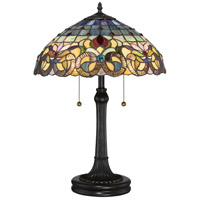 Quoizel TF3180TVB Tiffany 23 inch 75 watt Vintage Bronze Table Lamp Portable Light, Naturals
