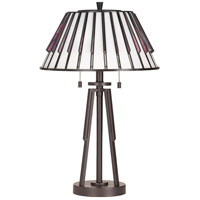 Quoizel TF3339TWT Tiffany 25 inch 75 watt Western Bronze Table Lamp Portable Light, Naturals
