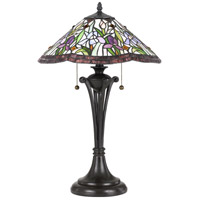 Quoizel TF3456TVB Tiffany 25 inch 75 watt Vintage Bronze Table Lamp Portable Light, Naturals