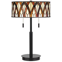 Quoizel TF4049EK Anastasia 23 inch 75 watt Earth Black Table Lamp Portable Light