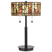 Quoizel TF4050EK Dawes 23 inch 75 watt Earth Black Table Lamp Portable Light