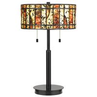 Quoizel TF4050EK Dawes 23 inch 75 watt Earth Black Table Lamp Portable Light