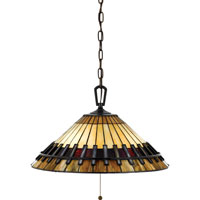 Quoizel Lighting Tiffany 3 Light Pendant in Vintage Bronze TF489PVB