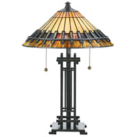 Quoizel Lighting Tiffany 2 Light Table Lamp in Vintage Bronze TF489T