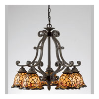 Quoizel Lighting Tiffany 5 Light Chandelier in Imperial Bronze TF5002IB
