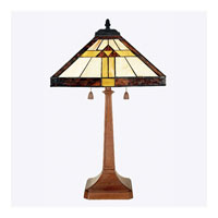 Quoizel Lighting Tiffany 2 Light Table Lamp in Medici Bronze TF6074Z photo thumbnail