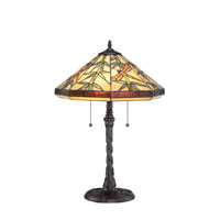 Quoizel Lighting Tiffany 2 Light Table Lamp in Imperial Bronze TF6102TIB