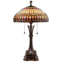 Quoizel Lighting Tiffany 2 Light Table Lamp in Brushed Bullion TF6660BB