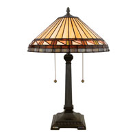 Quoizel Lighting Tiffany 2 Light Table Lamp in Vintage Bronze TF6663VB alternative photo thumbnail