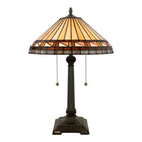 Quoizel Lighting Tiffany 2 Light Table Lamp in Vintage Bronze TF6663VB photo thumbnail