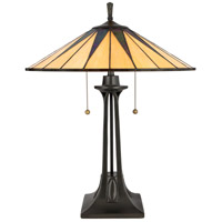 Quoizel TF6668VB Gotham 25 inch 75 watt Vintage Bronze Table Lamp Portable Light, Naturals