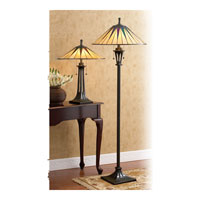 Quoizel TF6668VB Gotham 25 inch 75 watt Vintage Bronze Table Lamp Portable Light, Naturals alternative photo thumbnail
