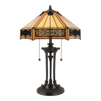 Quoizel TF6669VB Tiffany 23 inch 60 watt Vintage Bronze Table Lamp Portable Light alternative photo thumbnail