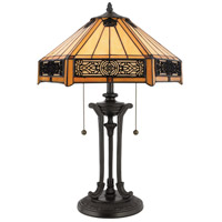 Quoizel Lighting Tiffany 2 Light Table Lamp in Vintage Bronze TF6669VB