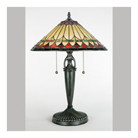 Quoizel Lighting Tiffany 2 Light Table Lamp in Vintage Bronze TF6821VB photo thumbnail
