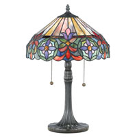 Quoizel Lighting Tiffany 2 Light Table Lamp in Vintage Bronze TF6826VB