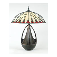 Quoizel Lighting Tiffany 2 Light Table Lamp in Burnt Cinnamon TF6855BC alternative photo thumbnail