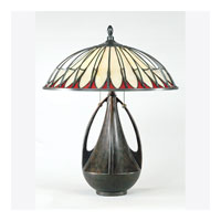 Quoizel Lighting Tiffany 2 Light Table Lamp in Burnt Cinnamon TF6855BC photo thumbnail