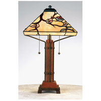 Quoizel Lighting Tiffany 2 Light Table Lamp in Multi TF6898M
