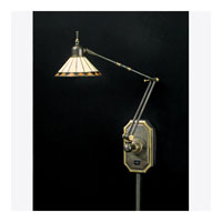 Quoizel Lighting Tiffany 1 Light Swing Arm Wall Light in Medici Bronze TF8156Z