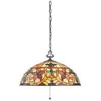 Kami 3 Light 20 inch Vintage Bronze Pendant Ceiling Light, Naturals