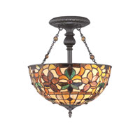 Quoizel Lighting Kami 2 Light Semi-Flush Mount in Vintage Bronze TF878SVB