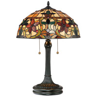 Quoizel TF878T Kami 23 inch 75 watt Vintage Bronze Table Lamp Portable Light, Naturals