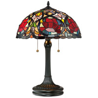 Quoizel Lighting Larissa 2 Light Table Lamp in Vintage Bronze TF879T