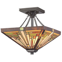 Stephen 2 Light 14 inch Vintage Bronze Semi-Flush Mount Ceiling Light