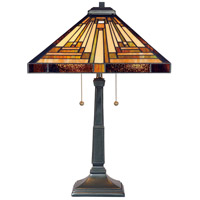Quoizel TF885T Stephen 23 inch 75 watt Vintage Bronze Table Lamp Portable Light, Naturals