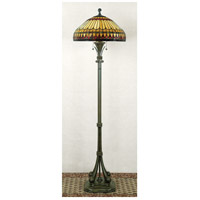 Quoizel Tiffany 2 Light Floor Lamp in Brushed Bullion TF9320BB