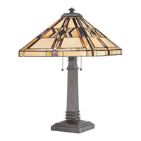 Quoizel Lighting Finton 2 Light Table Lamp in Vintage Bronze TF961TVB