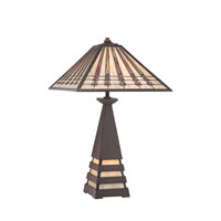 Quoizel Lighting Banks 2 Light Table Lamp in Indio Bronze TF988T