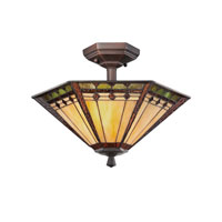 Quoizel Lighting Arden 2 Light Semi-Flush Mount in Russet TFAN1714RS