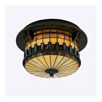 Quoizel Lighting Autumn Ridge 2 Light Outdoor Semi-Flush Mount in Bergamo TFAR1615BE alternative photo thumbnail