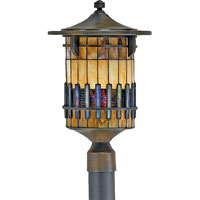 Quoizel Lighting Autumn Ridge 1 Light Outdoor Post Lantern in Bergamo TFAR9012BEFL