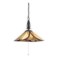 Quoizel Asheville 3 Light Pendant in Valiant Bronze TFAS1817VA
