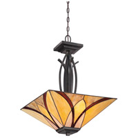 Asheville 3 Light 17 inch Valiant Bronze Pendant Ceiling Light, Naturals