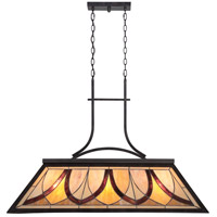 Asheville 3 Light 44 inch Valiant Bronze Island Chandelier Ceiling Light, Naturals