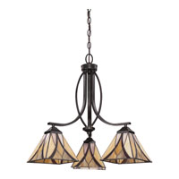 Quoizel TFAS5003VA Asheville 3 Light 23 inch Valiant Bronze Dinette Chandelier Ceiling Light, Naturals alternative photo thumbnail